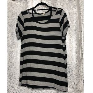 Striped cut out T